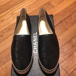 Dark Navy Chanel espadrilles. Size 38.  Brand new